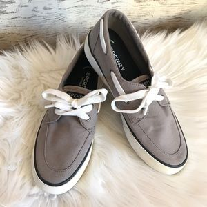 Sperry Top-Sider Canvas Boat Shoes Gray Sz: 8